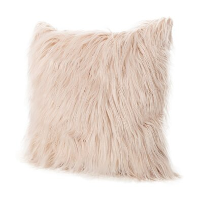 Beaufort Faux Fur Square Throw Pillow Color: Pastel Pink