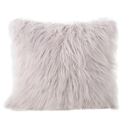 Beaufort Faux Fur Square Throw Pillow Color: Lavender