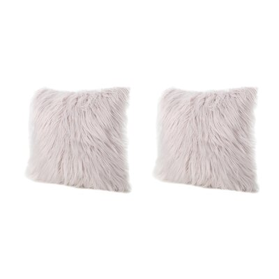 Beaufort Faux Fur Throw Pillow Color: Lavender