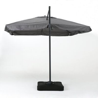 Callister 9 Outdoor Drape Umbrella Color: Gray