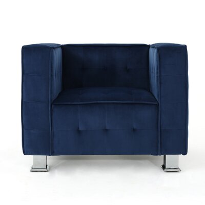 Beachdale Armchair Upholstery: Navy Blue