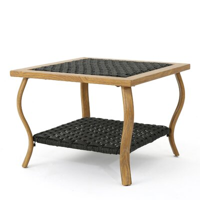 Drago Outdoor Coffee Table Color: Light Brown