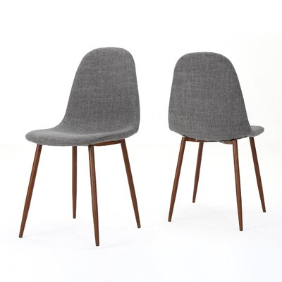 Christopher Upholstered Dining Chair Upholstery Color: Light Gray