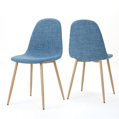 Christopher Upholstered Dining Chair Upholstery Color: Muted Blue