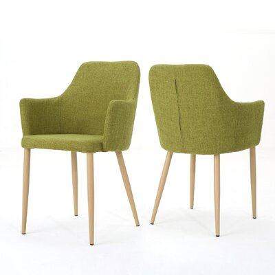 Joshua Upholstered Dining Chair Upholstery Color: Green