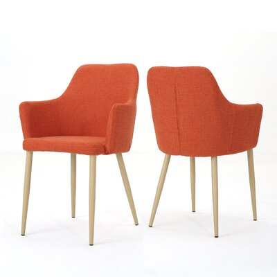 Joshua Upholstered Dining Chair Upholstery Color: Muted Orange