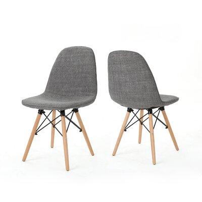 Pollak Side Chair Upholstery: Light Gray