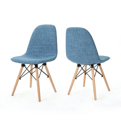 Pollak Side Chair Upholstery: Muted Blue
