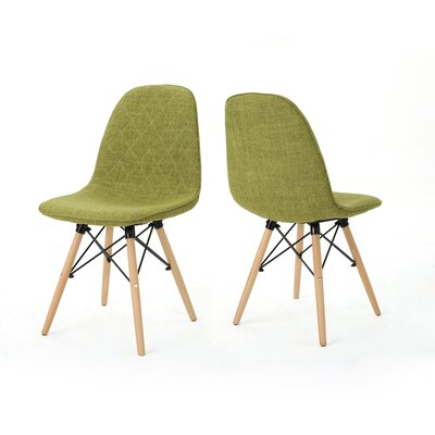 Pollak Side Chair Upholstery: Green