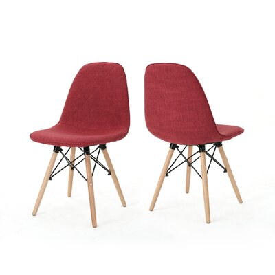 Pollak Side Chair Upholstery: Red