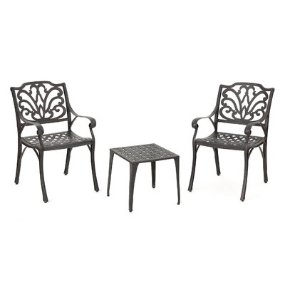 Kavanaugh Outdoor 3 Piece Conversation Set