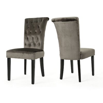 Normanton Upholstered Dining Chair Upholstery Color: Gray
