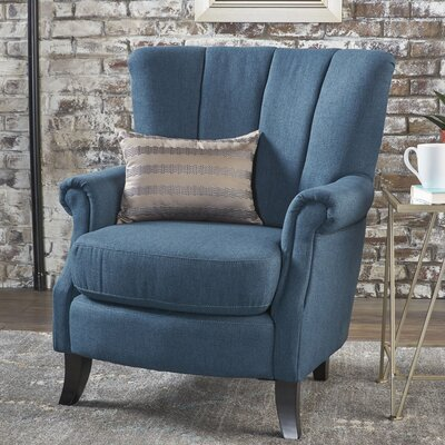 Kaspar Club Chair Upholstery: Navy Blue