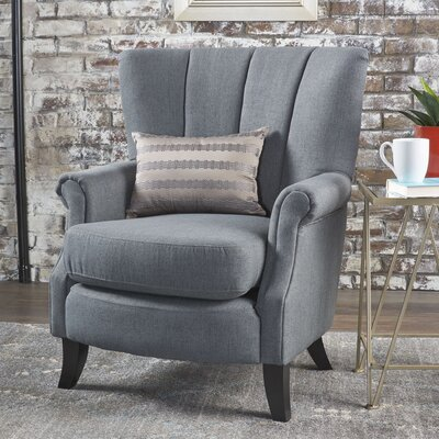 Kaspar Club Chair Upholstery: Charcoal