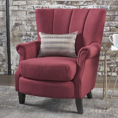 Kaspar Club Chair Upholstery: Deep Red