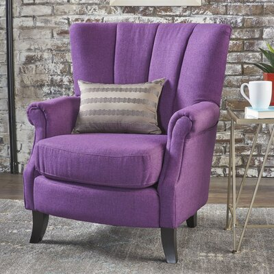 Kaspar Club Chair Upholstery: Classic Purple