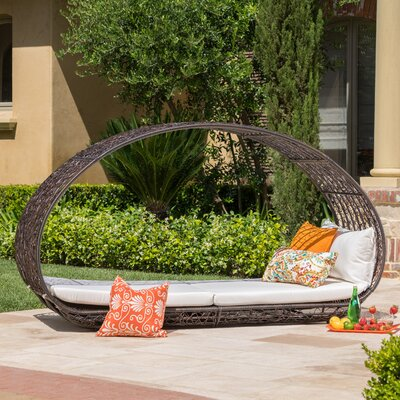 Cervenka Outdoor Wicker Daybed Color: Multibrown