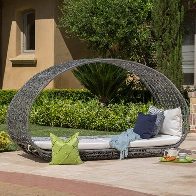 Cervenka Outdoor Wicker Daybed Color: Gray
