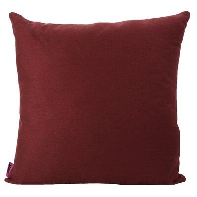 Duhart Fabric Throw Pillow Color: Deep Red