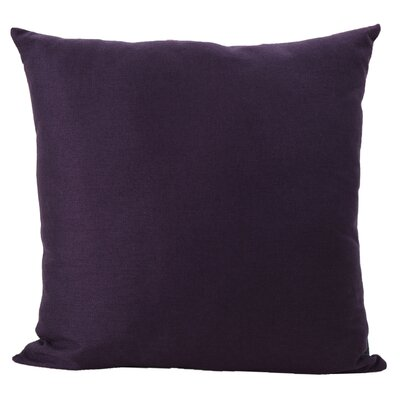 Duhart Fabric Throw Pillow Color: Plum