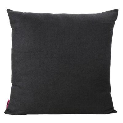 Duhart Fabric Throw Pillow Color: Dark Charcoal