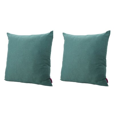 Duhart Fabric Square Throw Pillow Color: Dark Teal