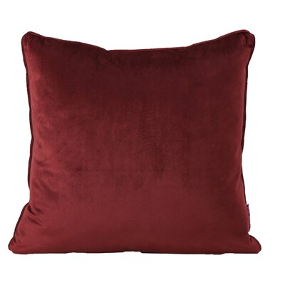 Owlswick Square Fabric Throw Pillow Color: Berry