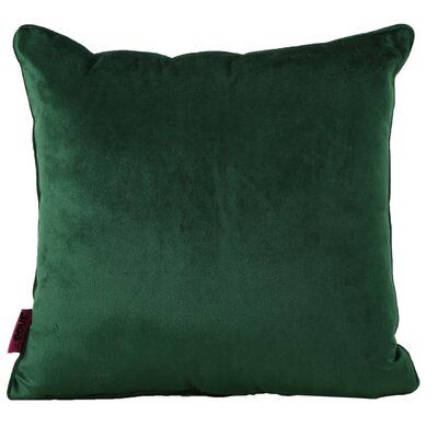 Owlswick Square Fabric Throw Pillow Color: Emerald