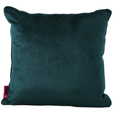 Owlswick Square Fabric Throw Pillow Color: Teal