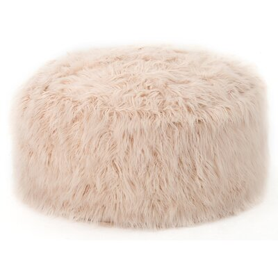 Furry Bean Bag Sofa Upholstery: Pastel Pink