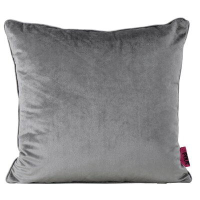 Owlswick Square Fabric Throw Pillow Color: Smoke
