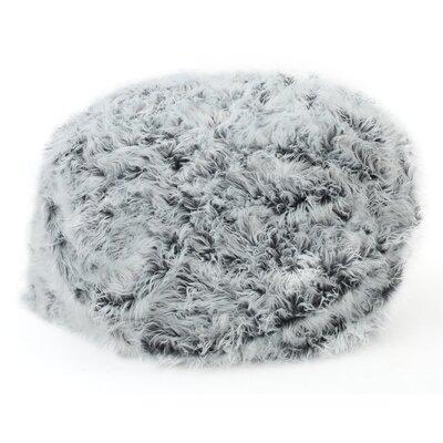 Furry Bean Bag Sofa Upholstery: Silver Gray