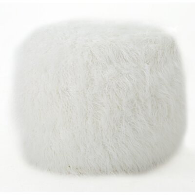 Furry Bean Bag Sofa Upholstery: White