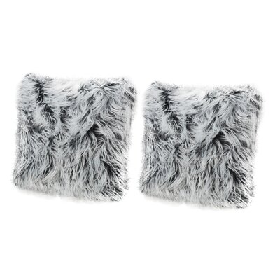 Beaufort Faux Fur Throw Pillow Color: Silver