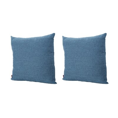 Duhart Fabric Square Throw Pillow Color: Muted Blue