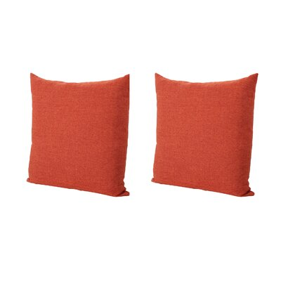 Duhart Fabric Square Throw Pillow Color: Muted Orange