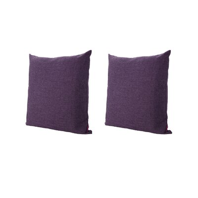 Duhart Fabric Square Throw Pillow Color: Muted Purple