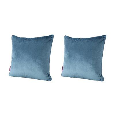 Owlswick Fabric Throw Pillow Color: Aqua