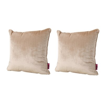 Owlswick Fabric Throw Pillow Color: Bisque