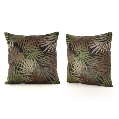Brookridge Square Outdoor Throw Pillow Color: Tropical Black