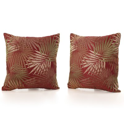 Brookridge Square Outdoor Throw Pillow Color: Tropical Red