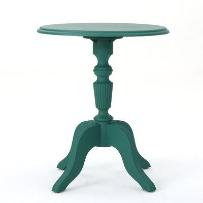 Kayleigh Outdoor End Table Color: Magnolia Green