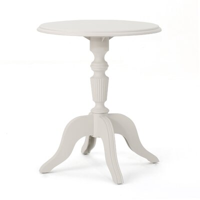 Kayleigh Outdoor End Table Color: French White