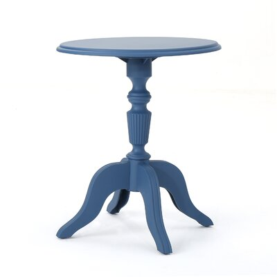 Kayleigh Outdoor End Table Color: Norway Blue