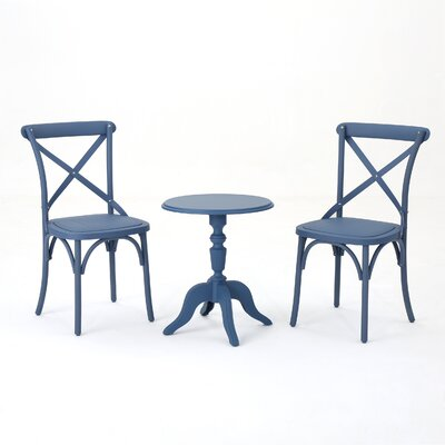Kayleigh 3 Piece Conversation Set Frame Finish: Norway Blue