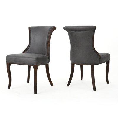 Glenhaven Upholstered Dining Chair Color: Slate