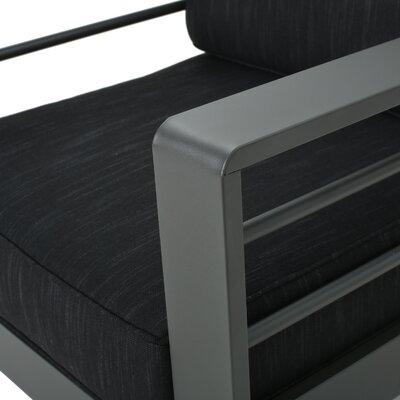 Crosstown Aluminum 5 Piece Sofa Set with Cushions