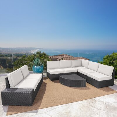 Hults Outdoor Reversible Modular Sectional Upholstery: Gray