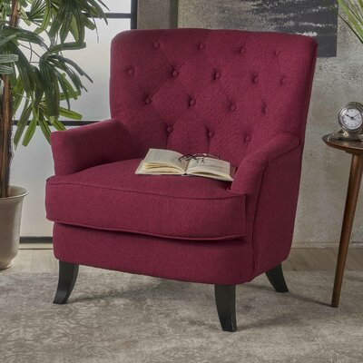 Amini Club Chair Upholstery: Deep Red