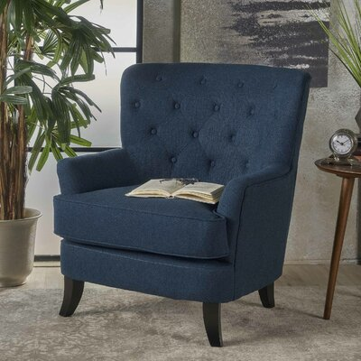 Amini Club Chair Upholstery: Navy Blue